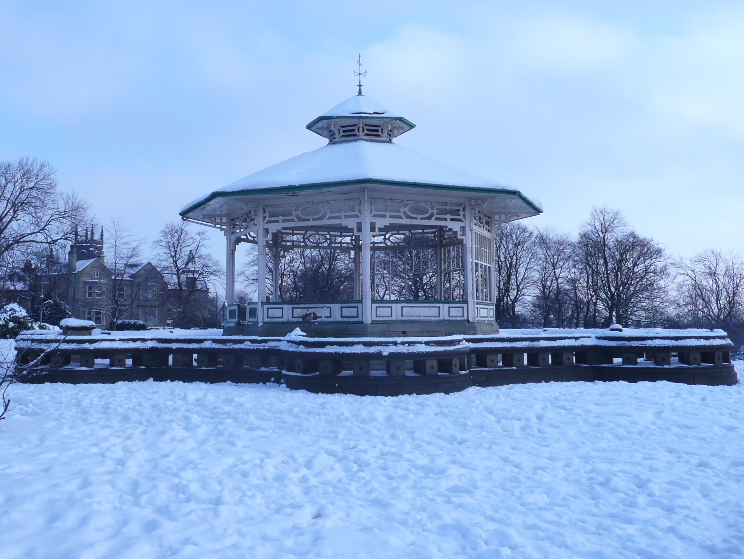 Bandstand in the snow, February 2009