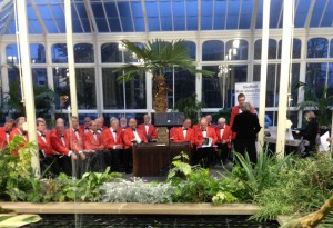 Gledholt Male Voice Choir performing in the conservatory in 2015