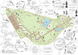 Children's activity sheet map
